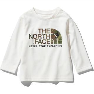THE NORTH FACE - 【新品未使用】ノースフェイス ロングTシャツ カモロゴティー ホワイト 90
