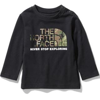THE NORTH FACE - 【新品未使用】ノースフェイス ロングTシャツ カモロゴティー ブラック 90