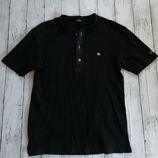 BURBERRY BLACK LABEL - バーバリーブラックレーベル ヘンリーネックTシャツ 黒