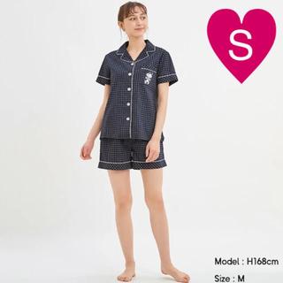 GU - ◆ GU スヌーピー コットンパジャマ 半袖 ネイビー S