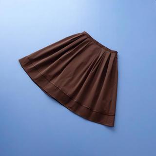FOXEY - ■FOXEY NY■ 40 グログラン フレアスカート はしごレース ブラウン