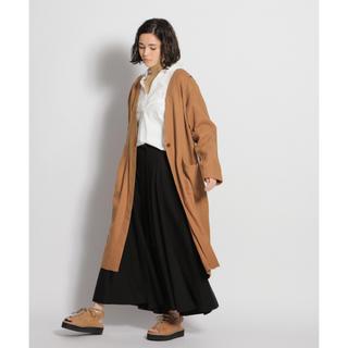 ニコアンド(niko and...)の✨未使用品✨ ♡おすすめ♡ リネン混スリット羽織りコート(ロングコート)