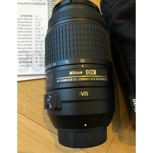 Nikon(ニコン)のNikon ニコン AF-S DX 55-300mm 望遠レンズ スマホ/家電/カメラのカメラ(レンズ(ズーム))の商品写真