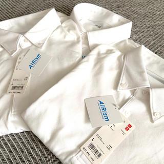 UNIQLO - ユニクロ エアリズム ポロシャツL 白