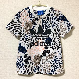 adidas - 【美品】adidas〈アディダス 〉フラワープリントTシャツ