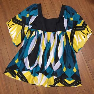 マウジー(moussy)のマウジー トップス シフォンチュニック Tシャツ(Tシャツ(半袖/袖なし))