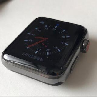 アップルウォッチ(Apple Watch)のアップルウォッチシリーズ3エディショングレーセラミック(腕時計(デジタル))