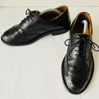 REGAL - REGAL リーガル 革靴 黒 ウイングチップ 除菌・消臭済み