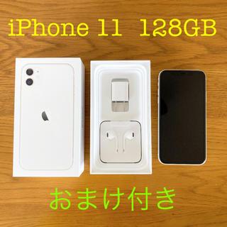 アップル(Apple)のiPhone 11   128GB    ホワイト SIMフリー(スマートフォン本体)