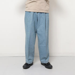 NEONSIGN WIDE DENIM SLACKS -USED-
