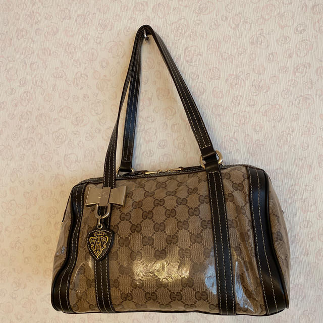 Gucci(グッチ)のGUCCI グッチ ヒステリア GGリボン付き ビニールバッグ レディースのバッグ(ハンドバッグ)の商品写真