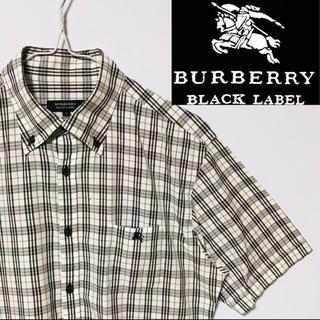 BURBERRY BLACK LABEL - 美品!バーバリーブラックレーベル  ホースマークノバチェックシャツ