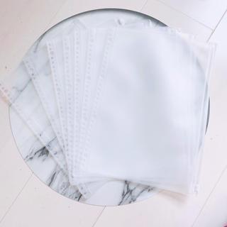ムジルシリョウヒン(MUJI (無印良品))の無印良品 リフィールクリアポケット A4・30穴 7枚(ファイル/バインダー)