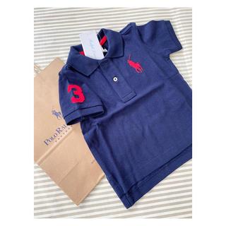 ラルフローレン(Ralph Lauren)のsale 新作 ラルフローレン ポロシャツ 80センチ ネイビー(シャツ/カットソー)