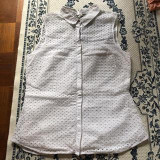 エイチアンドエム(H&M)のノースリーブシャツ Lサイズ H&M(シャツ/ブラウス(半袖/袖なし))