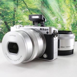Nikon - Nikon ミラーレス一眼 Nikon1 J5 ダブルレンズキット シルバー