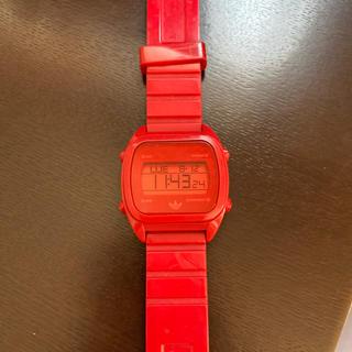 アディダス(adidas)のアディダス 赤(腕時計(デジタル))