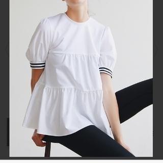 バーニーズニューヨーク(BARNEYS NEW YORK)のBORDERS at BALCONY  新品 ホワイト(Tシャツ(半袖/袖なし))