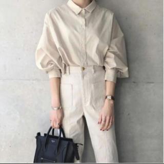 ZARA - ジョイントスペース×93♡コットンボリュームスリーブシャツ