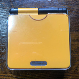 ゲームボーイアドバンス(ゲームボーイアドバンス)のゲームボーイアドバンスSP 本体 バックライト液晶 オレンジ×ブラック(携帯用ゲーム機本体)