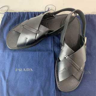 プラダ(PRADA)の❤限定セール❤ 【プラダ】シューズ サンダル 黒 メンズ レディース  29cm(サンダル)