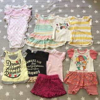 ベビーギャップ(babyGAP)の80センチ 11着まとめうり!baby GAP、アンパンマン 、ハローキティなど(Tシャツ)