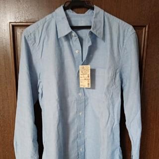 MUJI (無印良品) - 新品 無印良品オーガニックコットン洗いざらしブロードシャツ スカイブルー 長袖