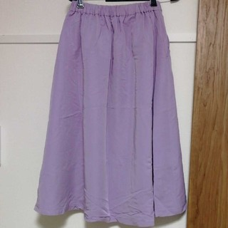 グローバルワーク(GLOBAL WORK)のロングスカート 紫(ロングスカート)