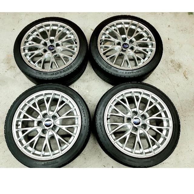 スバル(スバル)のスバル WRX S4 純正OP ホイールタイヤ 4本 レヴォーグ WRX 自動車/バイクの自動車(タイヤ・ホイールセット)の商品写真