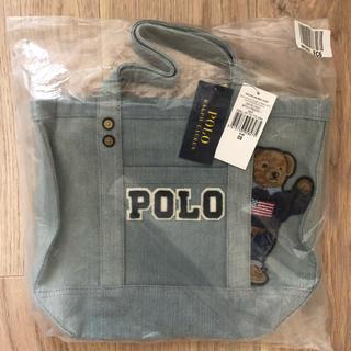 POLO RALPH LAUREN - 【新品未使用】ラルフローレン ポロベア  キャンバストート デニム