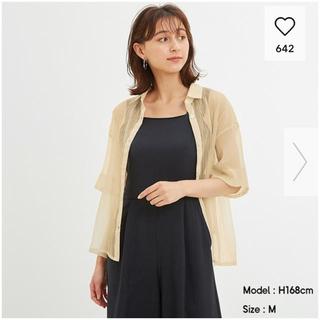 GU - シアーオーバーサイズシャツ ジーユー GU  M