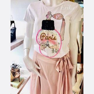 チェスティ(Chesty)のParis Tシャツ♡グレースコンチネンタル ジルスチュアート リリーブラウン(Tシャツ(半袖/袖なし))