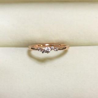 4℃ - 美品 4℃ K10 ダイヤモンドリング