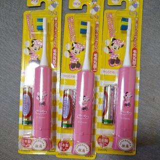ディズニー(Disney)の電動歯ブラシ ミニー ハピカ日本製3個セット(電動歯ブラシ)