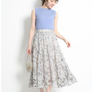 リランドチュール(Rirandture)のシアーカットワーク刺繍スカート(ひざ丈スカート)