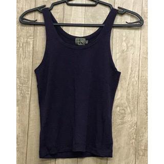 カルバンクライン(Calvin Klein)のカルバンクライン タンクトップ レディース 紫 パープル Mサイズ(タンクトップ)