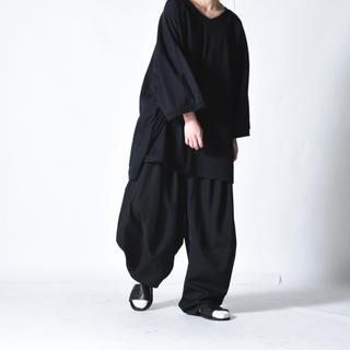 Yohji Yamamoto - BISHOOL 3 Tuck Circle Pants ウールギャバ