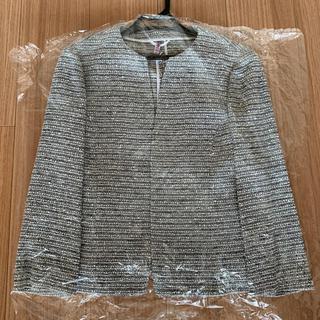 ANAYI - 【美品 クリーニング済】ANAYI  サマーツイード ノーカラージャケット