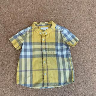 BURBERRY - バーバリー  半袖シャツ チェックシャツ  90