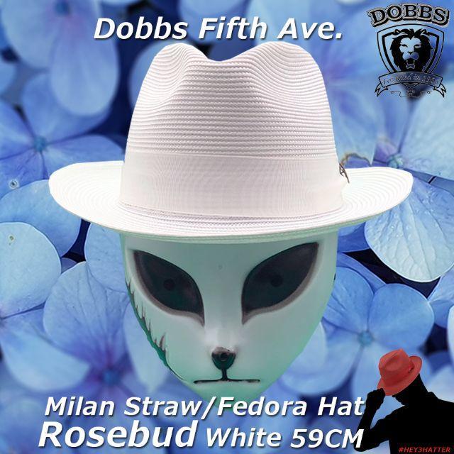 Borsalino(ボルサリーノ)のドブズ★ローズバッド・ホワイト59CM【ミランストロー】 メンズの帽子(ハット)の商品写真