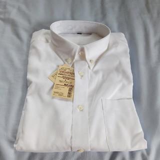 ムジルシリョウヒン(MUJI (無印良品))の新品 無印良品 形態安定ボタンダウンシャツ 白 L 長袖(シャツ)
