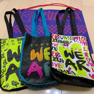 ズンバ(Zumba)のZUMBA バッグ 4点セット 新品&美品(ダンス/バレエ)