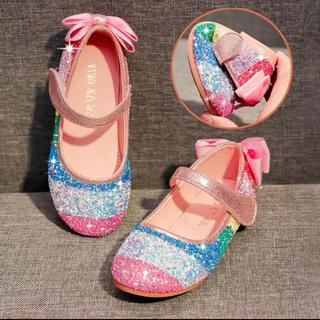 kids レインボー 靴 キラキラ