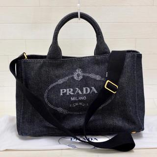 PRADA - ☆美品・白タグ付☆プラダ PRADA カナパ CANAPA 2way ブラック