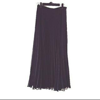 ローラアシュレイ(LAURA ASHLEY)のローラアシュレイ  黒プリーツロングスカート(ロングスカート)