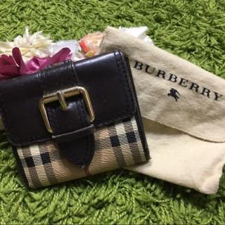 BURBERRY - burberryバーバリー 定番チェックのレザーウォレット 折財布 本革