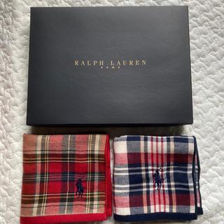 Ralph Lauren - 新品本物ラルフローレンタオルハンカチミニタオルハンドタオルポニー刺繍2枚セット