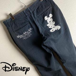 ディズニー(Disney)の【 ビンテージ Disney ミッキー チノパン 古着コーデ 希少 フルジョ】(チノパン)