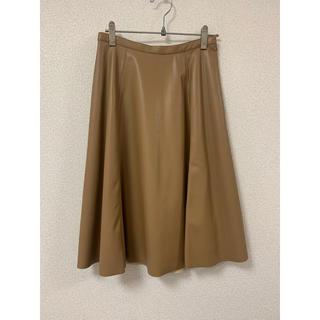 エヌナチュラルビューティーベーシック(N.Natural beauty basic)のナチュラルビューティベーシック レザー風スカート(ひざ丈スカート)