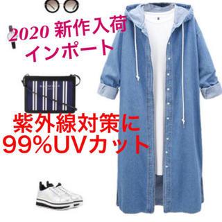 【再入荷】人気 デニムコート パーカー UV対策  オーバーサイズ ジャケット